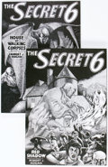 Memorabilia:Pulps, The Secret 6 #1 and 2 Pulp Reprints Group (Pulp Collector Press, 1986-87) Condition: Average NM-.... (Total: 2 Items)