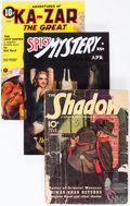 Memorabilia:Pulps, Assorted Pulps and Pulp-Reprints Group of 6 (Various Publishers,1939-2007) Condition: Average NM-.... (Total: 6 Items)