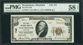 National Bank Notes:Maryland, Westminster, MD - $10 1929 Ty. 2 The First NB Ch. # 742. ...