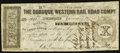 Obsoletes By State:Iowa, Dubuque, IA- Dubuque Western Rail Road Compy. $10 Jan. 15 1858 Oakes UNL. ...