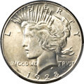 Peace Dollars, 1928 $1 MS65+ PCGS Secure. CAC....