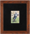 Football Collectibles:Photos, Red Grange Signed Goal Line Art Card....