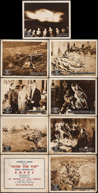 "Over the Top (Vitagraph, 1918). Lobby Card Set of 9 (11"" X 14""). War. ... (Total: 9 Items)"