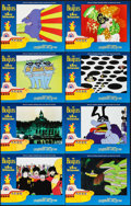 "Movie Posters:Animation, Yellow Submarine (United Artists, R-1999). International Lobby Card Set of 8 (11"" X 14""). Animation.. ... (Total: 8 Items)"