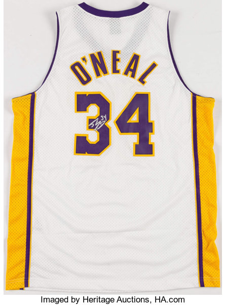 ea52c656421 Shaquille O Neal Signed Los Angeles Lakers Jersey.... Basketball ...