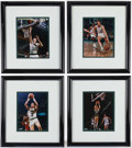 Basketball Collectibles:Photos, Boston Celtics Greats Signed Photographs Lot of 4....