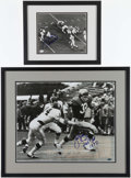 Football Collectibles:Photos, Joe Namath and John Riggins Signed Photographs (2)....