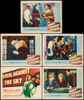 """Movie Posters:Action, Steel Against the Sky (Warner Brothers, 1941). Title Lobby Card& Lobby Cards (4) (11"""" X 14""""). Action.. ... (Total: 5 Items)"""