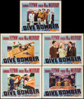 "Movie Posters:Action, Dive Bomber (Warner Brothers, 1941). Lobby Cards (5) (11"" X 14"").Action.. ... (Total: 5 Items)"