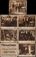 """Movie Posters:Comedy, Social Pirates (Fox, 1917). Title Lobby Card & Lobby Cards (6) (11"""" X 14""""). Comedy.. ... (Total: 7 Items)"""