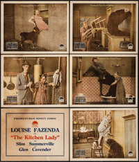 "The Kitchen Lady (Paramount, 1918). Title Lobby Card & Lobby Cards (5) (11"" X 14""). Comedy. ... (Total: 6..."
