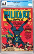 Golden Age (1938-1955):War, Military Comics #4 (Quality, 1941) CGC FN+ 6.5 Cream to off-whitepages....