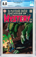 Silver Age (1956-1969):Horror, House of Mystery #180 (DC, 1969) CGC VF 8.0 Off-white pages....