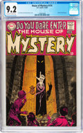 Silver Age (1956-1969):Horror, House of Mystery #174 (DC, 1968) CGC NM- 9.2 Off-white to whitepages....