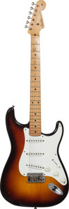Musical Instruments:Electric Guitars, 1959 Fender Stratocaster Sunburst Solid Body Electric Guitar,Serial # 35385, Weight: 7.7 lbs....
