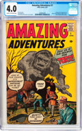 Silver Age (1956-1969):Horror, Amazing Adventures #1 (Marvel, 1961) CGC VG 4.0 Cream to off-whitepages....
