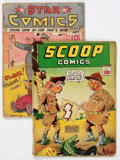 Scoop Comics #1 and Star Comics #14 Group of 2 (Chesler and Centaur, 1938-41).... (Total: 2 Items)