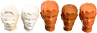 Robin the Boy Wonder/Dick Grayson Action Figure Head Pre-Production Prototype Group (Mego, c. 1970s).... (Total: 5 Items...