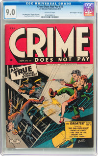 """Crime Does Not Pay #35 Davis Crippen (""""D"""" Copy) Pedigree (Lev Gleason, 1944) CGC VF/NM 9.0 Off-white pages"""