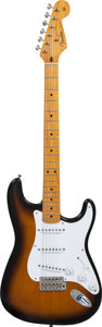 Musical Instruments:Electric Guitars, 1988 Fender '57 Re-Issue Stratocaster Sunburst Solid Body ElectricGuitar, Serial # V033492, Weight: 7.8 lbs....