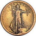 High Relief Double Eagles, 1907 $20 High Relief, Flat Rim, VG10 PCGS....