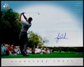 Golf Collectibles:Autographs, Tiger Woods Signed Signature Shot UDA Photograph....
