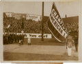 Autographs:Baseballs, 1923 Raising the Pennant During Opening of Yankee Stadium OriginalPhotograph, PSA/DNA Type 1. ...