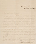 Autographs:U.S. Presidents, Jefferson and Varina Davis: Combined Husband-Wife Letter Signed....