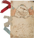 Miscellaneous:Ephemera, Civil War Handmade and Ornately Decorated Schoolgirl NewsJournal....
