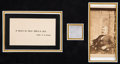 Political:Presidential Relics, Ulysses S. Grant: Hair Relic Mourning Display....