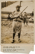 Autographs:Baseballs, Circa 1921 Babe Ruth Original Photograph, PSA/DNA Type 1. ...