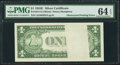 Error Notes:Obstruction Errors, Fr. 1614 $1 1935E Silver Certificate. PMG Choice Uncirculated 64EPQ.. ...