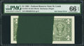 Error Notes:Ink Smears, Fr. 1911-H $1 1981 Federal Reserve Note. PMG Gem Uncirculated 66EPQ.. ...
