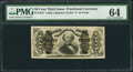 Fractional Currency:Third Issue, Fr. 1327 50¢ Third Issue Spinner PMG Choice Uncirculated 64.. ...