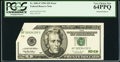 Error Notes:Foldovers, Fr. 2083-F $20 1996 Federal Reserve Note. PCGS Very Choice New64PPQ.. ...