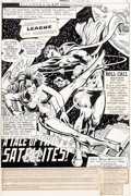 Original Comic Art:Splash Pages, Dick Dillin and Frank McLaughlin Justice League of America#143 Splash Page 1 Original Art (DC, 1977)....