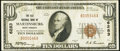 National Bank Notes:West Virginia, Martinsburg, WV - $10 1929 Ty. 1 The Old NB Ch. # 6283. ...