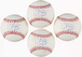 Autographs:Baseballs, Curt Schilling Single Signed Baseballs Lot of 4. ...