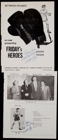 Boxing Collectibles:Autographs, Boxing Greats Signed Lot of 2....