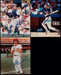 Miscellaneous Collectibles:General, Misc. Sports Stars Signed Photographs and Card Lot of 4....