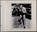 Boxing Collectibles:Autographs, Jersey Joe Walcott Signed Photograph....