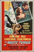 "Movie Posters:Adventure, The White Tower (RKO, 1950). One Sheet (27"" X 41""). Adventure.. ..."