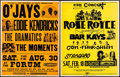 Movie Posters:Rock and Roll, The O'Jays, Eddie Kendricks, The Dramatics, and The Moments at TheForum & Other Lot (Star Treatment, 1975). Locally Produce...(Total: 2 Items)