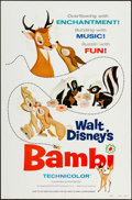 "Movie Posters:Animation, Bambi & Other Lot (Buena Vista, R-1975). One Sheets (2) (27"" X 41"") Style A Flat Folded. Animation.. ... (Total: 2 Items)"