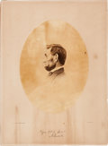 Photography:Cabinet Photos, Abraham Lincoln: Oval Albumen on Gardner Mount....