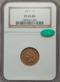 Proof Indian Cents, 1871 1C PR65 Red and Brown NGC. CAC....