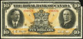 Canadian Currency: , Montreal, PQ- The Royal Bank of Canada $10 Jan. 3, 1927 Ch. #630-14-06. ...