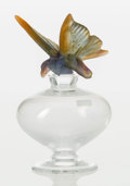 Art Glass:Daum, A Daum Pate-de-Verre Papillon Perfume Bottle, late 20thcentury. Marks: Daum, France. 5-5/8 inches high (14....