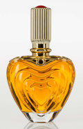 Art Glass:Other , A Magaretha Ley for Escada Glass Heart-Form Factice Bottle, circa1990. 14 inches high (35.6 cm). A PERFUME BOTTLE COLLECT...