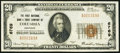 National Bank Notes:Kentucky, Columbia, KY - $20 1929 Ty. 1 The First NB & TC Ch. # 6769. ...